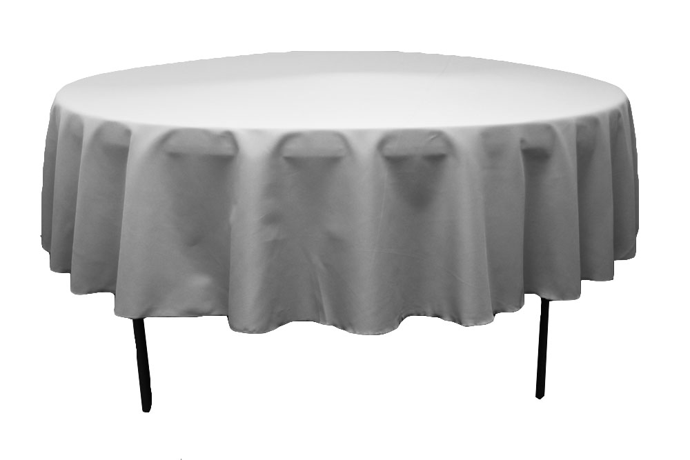 108 Round Tablecloth Silver