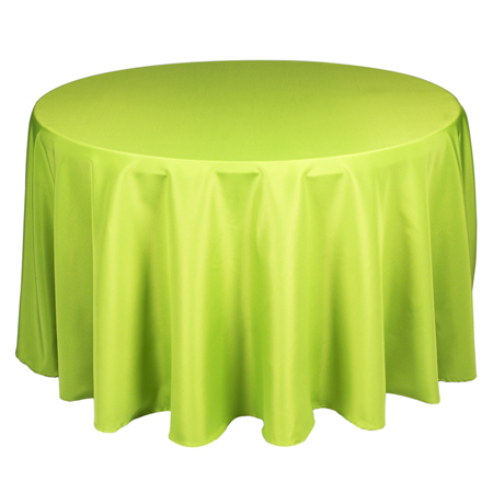90 Round Tablecloth Apple Green
